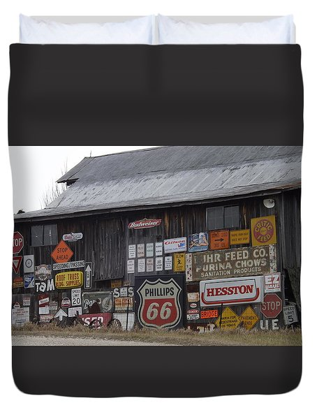 Americana Signs Duvet Cover