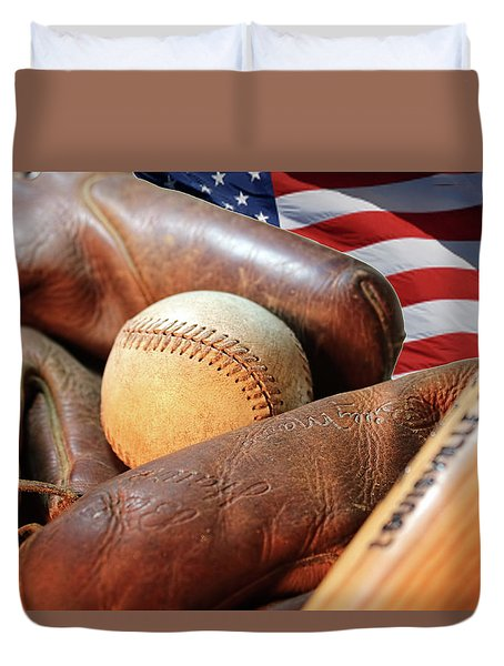 Americas Pastime Duvet Cover
