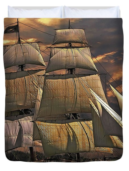 America's Ship Duvet Cover