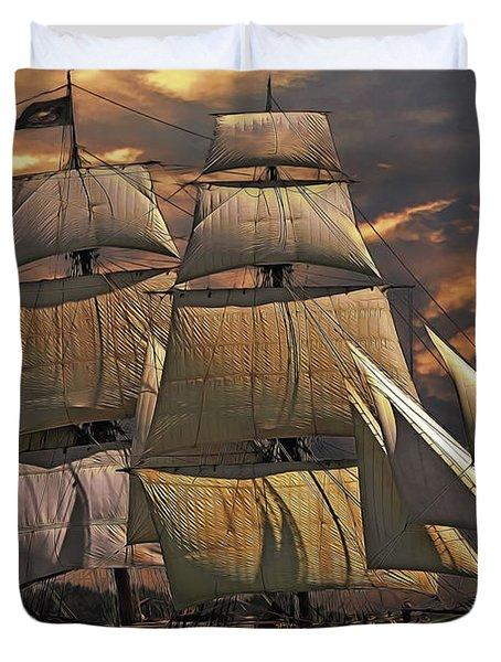 America's Ship Duvet Cover