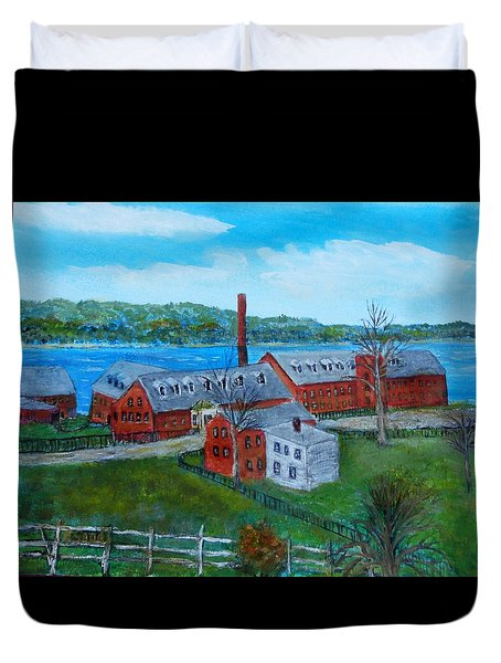 Amesbury Hat Shop Duvet Cover
