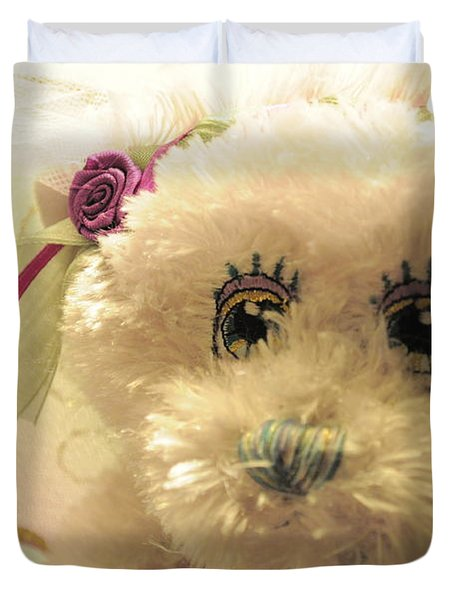 Amethyst Fairy Bear Duvet Cover