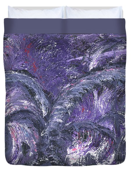 Amethyst Is The Color Of Your Energy Duvet Cover