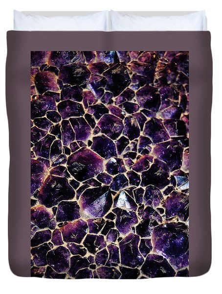 Amethyst Quartz Crystal Smithsonian Duvet Cover