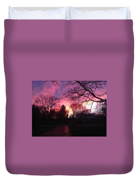 Amethyst Sunset Duvet Cover