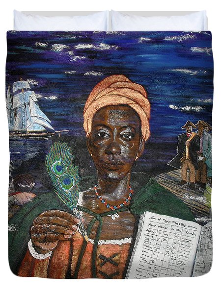 Aminata's Book Of Negroes Duvet Cover