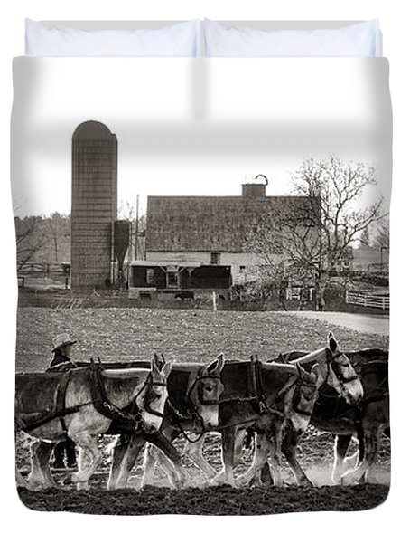 Amish Agriculture  Duvet Cover