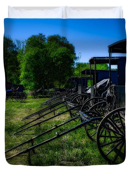 Amish Auction Day Duvet Cover