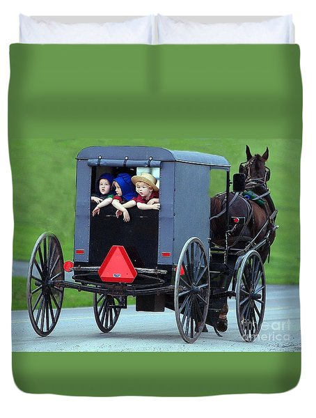 Amish Country Tour Duvet Cover