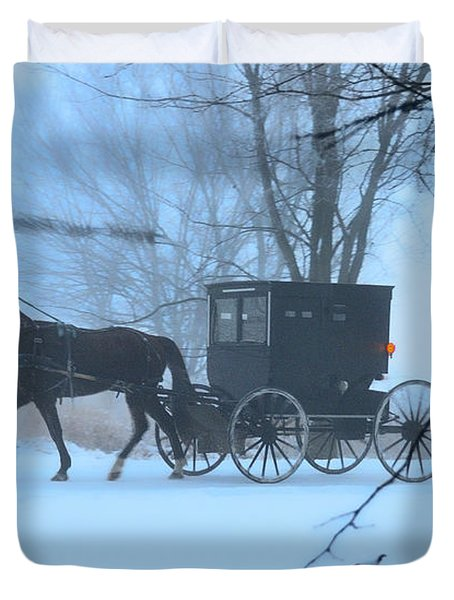 Amish Dreamscape Duvet Cover