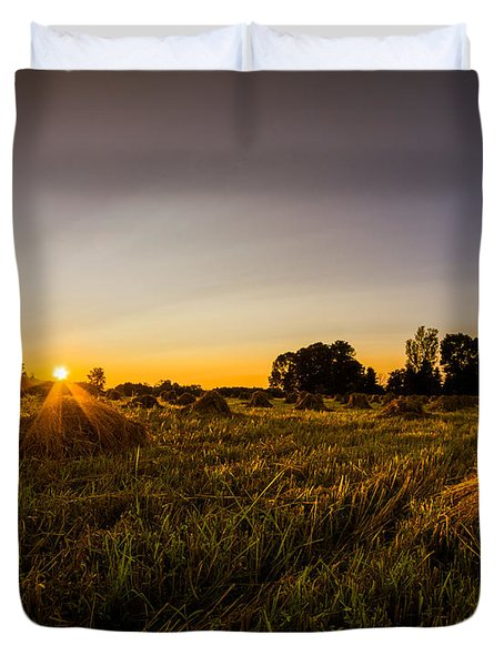 Amish Harvest Duvet Cover