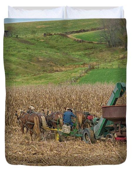 Amish Harvest In Ohio  Duvet Cover