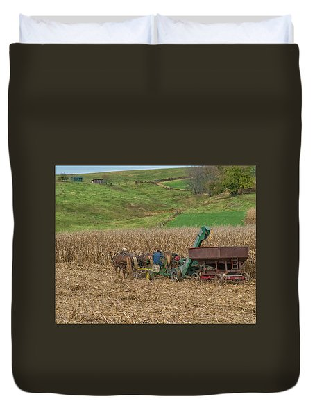 Amish Harvest In Ohio  Duvet Cover