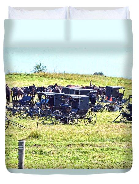 Amish Hillside Duvet Cover