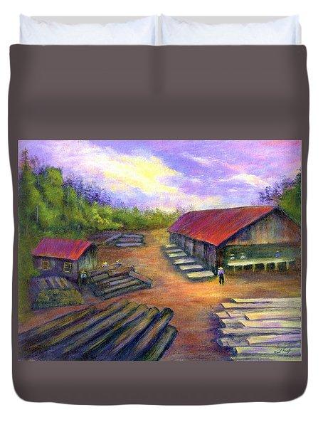 Amish Lumbermill Duvet Cover by Gail Kirtz