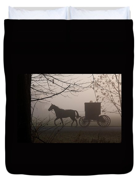 Amish Morning 1 Duvet Cover