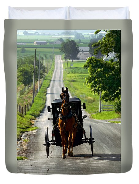 Amish Morning Commute Duvet Cover