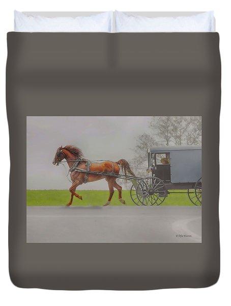 Amish Sunday Ride Duvet Cover