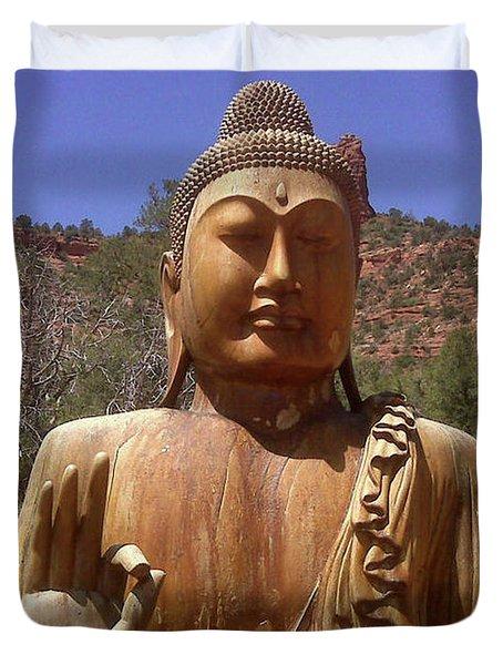 Amitabha Duvet Cover