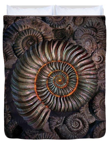 Ammonite 1 Duvet Cover