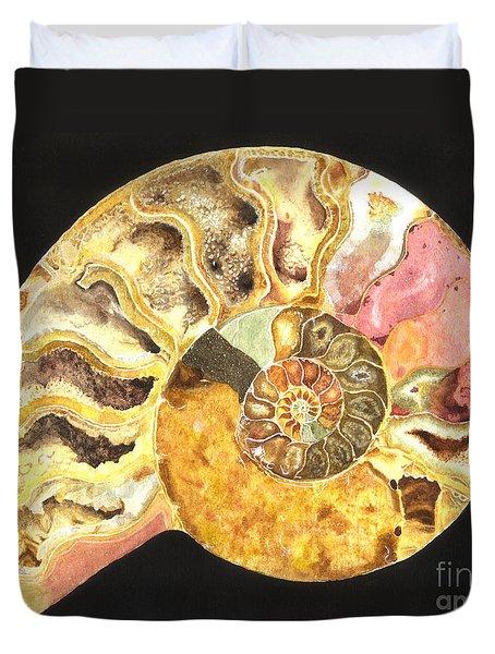Ammonite Fossil Duvet Cover