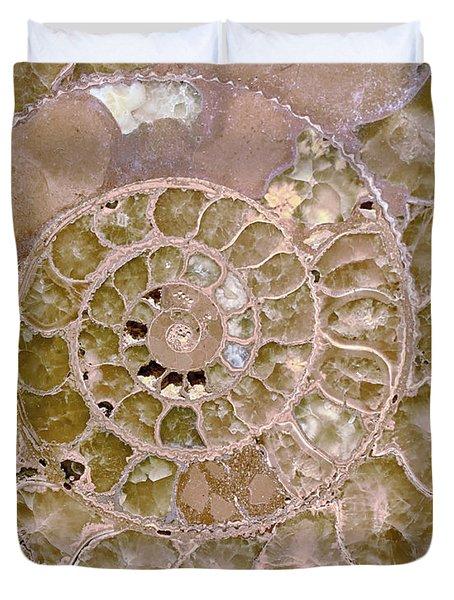 Duvet Cover featuring the photograph Ammonite by Gigi Ebert