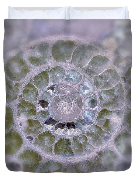 Ammonite Lavender And Blue Duvet Cover