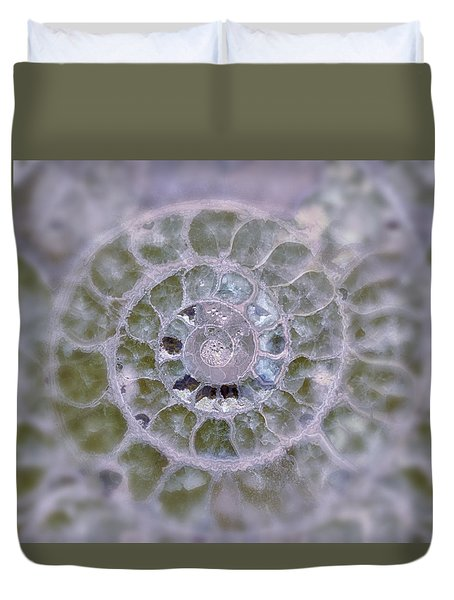Ammonite Lavender And Blue Duvet Cover