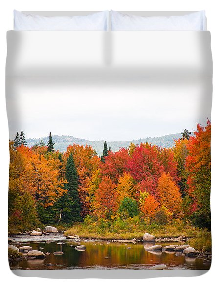 Duvet Cover featuring the photograph Ammonoosuc River by Robert Clifford