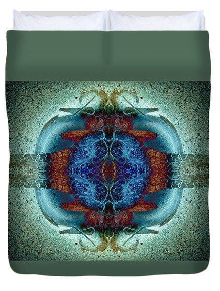 Duvet Cover featuring the photograph Amoebic Implosion by WB Johnston