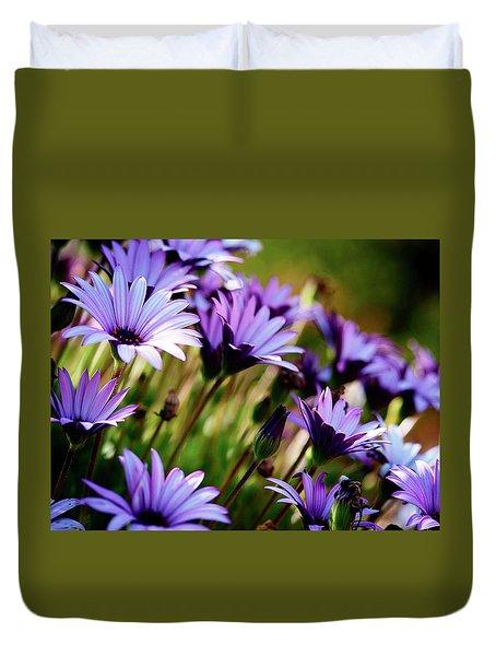 Among The Flowers Duvet Cover
