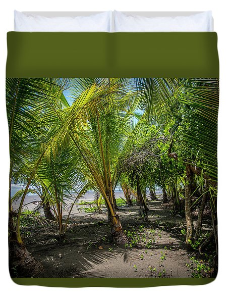 Among The Palms Duvet Cover
