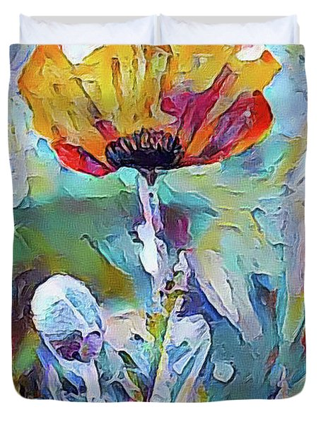 Among The Poppies II Duvet Cover