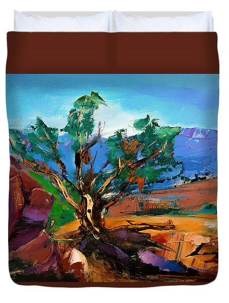 Among The Red Rocks - Sedona Duvet Cover