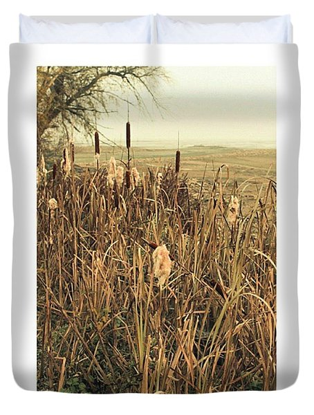 *among The Reeds  #landscape Duvet Cover