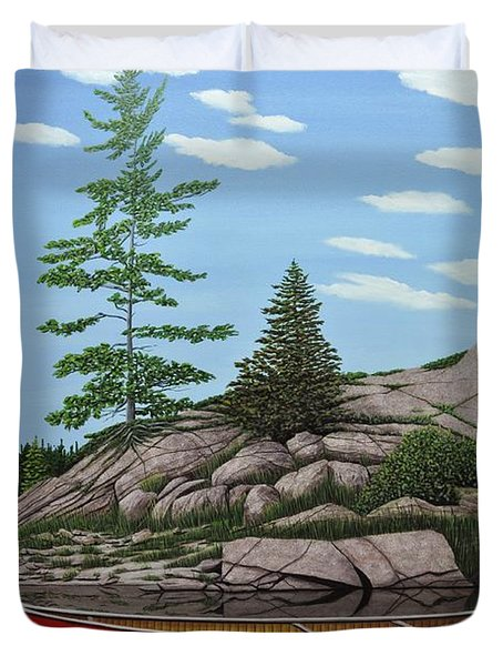 Among The Rocks II Duvet Cover