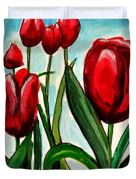 Among The Tulips Duvet Cover