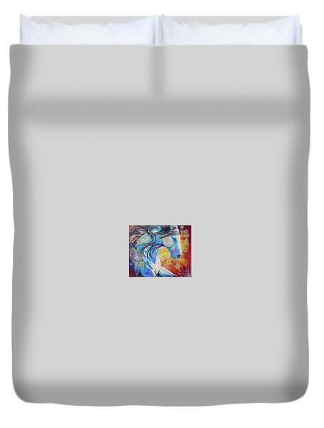 Among The Wildflowers Duvet Cover