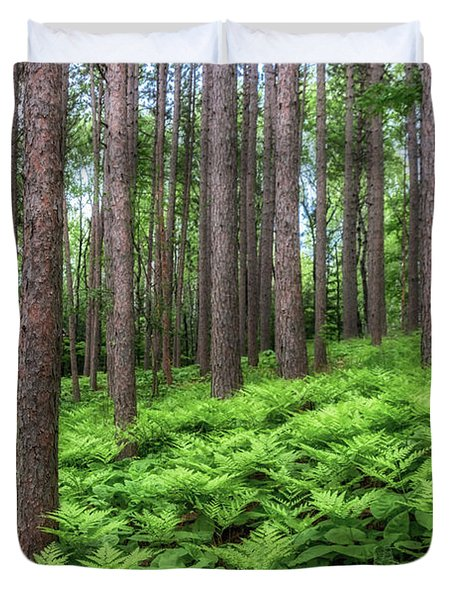 Amongst The Ferns Duvet Cover