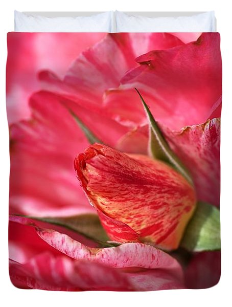 Amongst The Rose Petals Duvet Cover