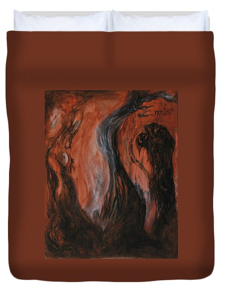 Amongst The Shades Duvet Cover by Christophe Ennis