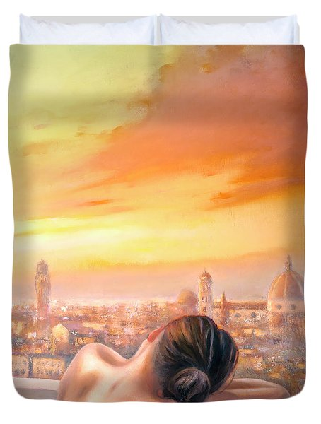 Amore Di Firenze Love Of Florence Duvet Cover