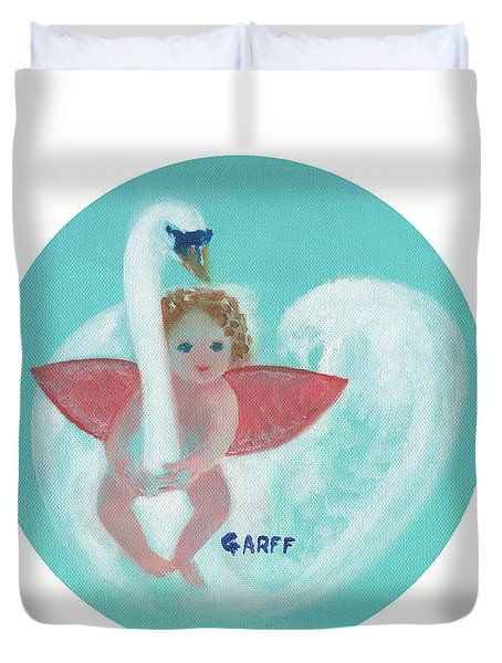 Amorino With Swan Duvet Cover