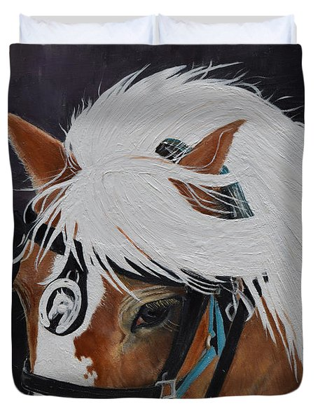 Amos - Haflinger - Horse Duvet Cover