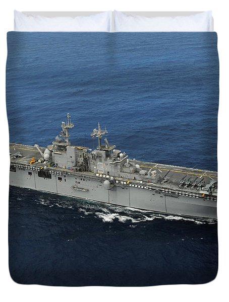 Amphibious Assault Ship Uss Kearsarge Duvet Cover