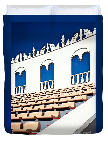 Duvet Cover featuring the photograph Amphitheater by Andrey  Godyaykin