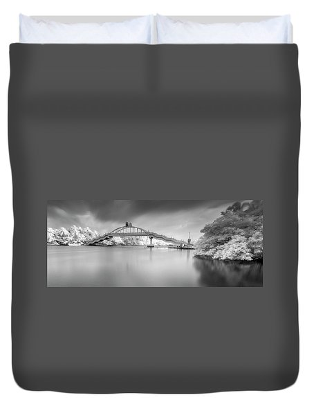 Duvet Cover featuring the photograph Amritasetu by Sonny Marcyan