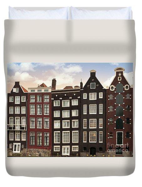 Amsterdam Architectre At Twilight Duvet Cover