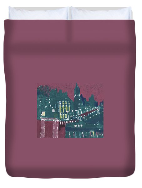 Amsterdam At 4am Duvet Cover by Jerry W McDaniel