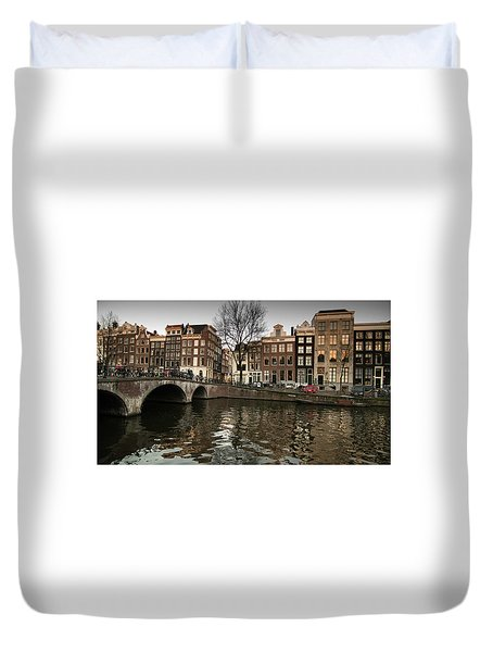 Amsterdam Canal Bridge Duvet Cover